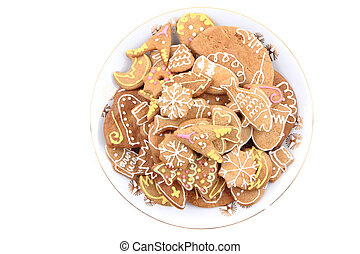 christmas gingerbread isolated