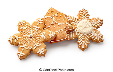 Christmas gingerbread on a white background