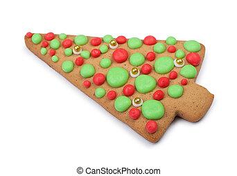 Christmas gingerbread tree cookie