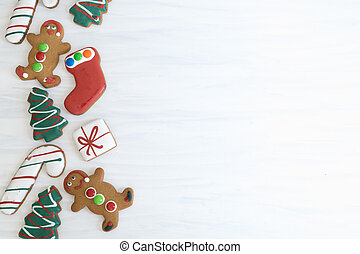 Christmas Gingerbread with Copy Space