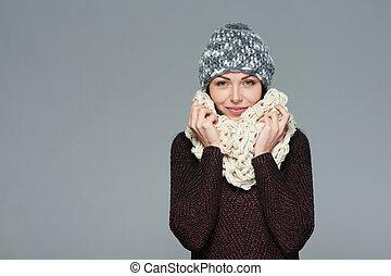 Christmas girl, winter concept.