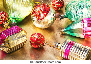 Christmas glass vintage baubles