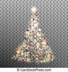 Christmas glitter bokeh lights. EPS 10 vector