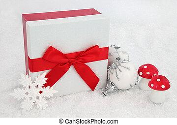 Christmas Glitter Gift Box