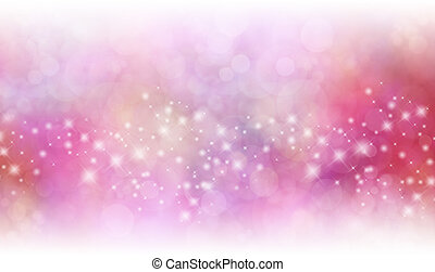 Wide Christmas Red and Pink Sparkling Glittery Star Speckled Background with top and bottom fading into white