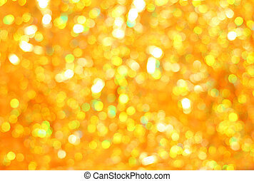 Christmas glittering background. Golden bokeh - abstract texture