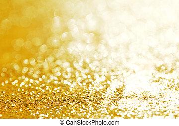 Christmas glittering background - Golden Christmas bright...