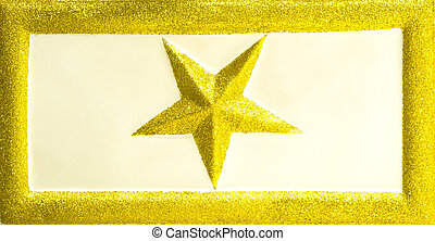 Christmas glittering star - Golden glittering star in...