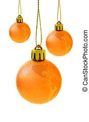 Christmas globe baubles