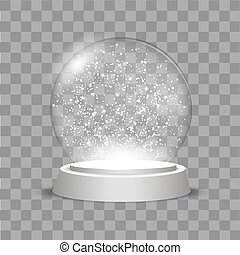 Christmas Globe with falling snow