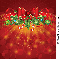 Christmas glowing packing, ornamental design elements