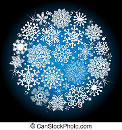 Christmas glowing snow ball