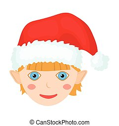 Christmas gnome single icon in cartoon style for design.Christmas vector symbol stock illustration web.
