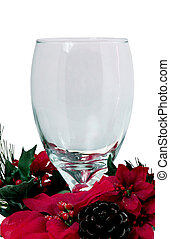 Christmas Goblet v1 - Empty glass goblet surrounded by...
