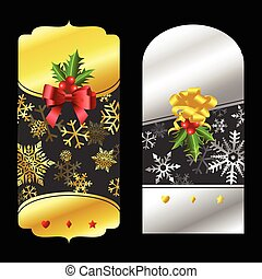 Christmas gold and silver price tags