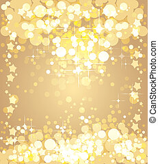 Christmas gold background, vector