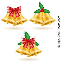 christmas gold bells illustration