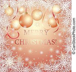 Christmas gold card