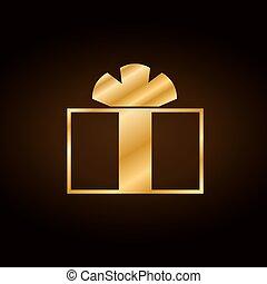 Christmas gold gift