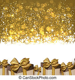 Christmas golden abstract background.