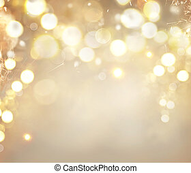 Christmas golden background. Holiday abstract glowing background with blinking stars