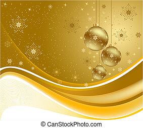 Christmas golden background vector