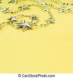Christmas Golden Background with Stars