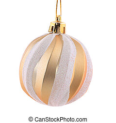 Christmas golden ball.