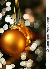 Christmas golden ball