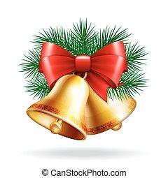 Christmas golden bells