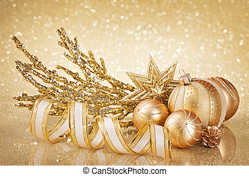 Christmas golden decoration