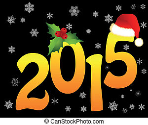 Christmas golden figures in 2015