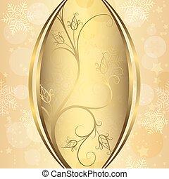 Christmas golden frame
