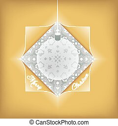 Christmas Golden Greeting Card