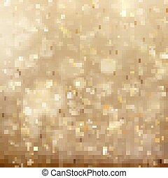 Christmas golden holiday glowing backdrop. EPS 10 vector