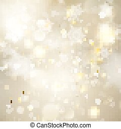 Christmas golden holiday glowing background. EPS 10 vector