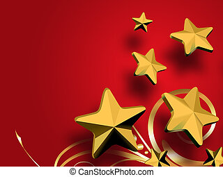 christmas Golden Stars background