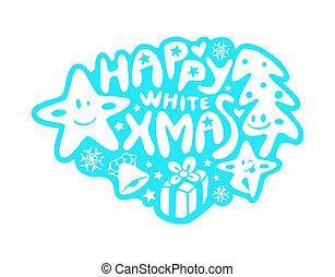 Christmas graffiti - Happy graffiti or sticker with ...