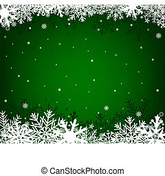 christmas green background - Green Christmas background on a...