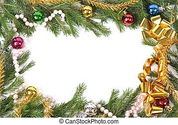 Christmas green border