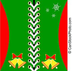 Christmas green lacing