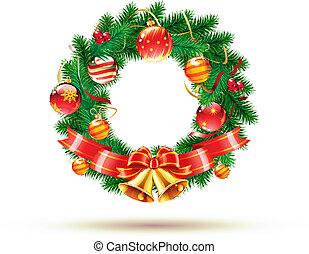 Christmas green wreath
