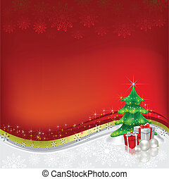 christmas greeting abstract red background