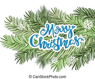 Christmas greeting and Christmas branches