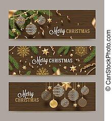 Christmas greeting banners