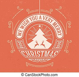 Christmas greeting card background. vintage ornament decoration with Merry Christmas holidays. Vector illustration.