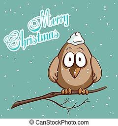 Christmas Greeting Card Bird
