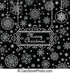 Christmas greeting card (black and