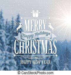 Christmas greeting card - Christmas vintage card with the...