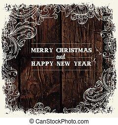 Christmas greeting card design, vector.